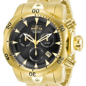 NEW Invicta Men's Watch Venom Gold Bracelet
